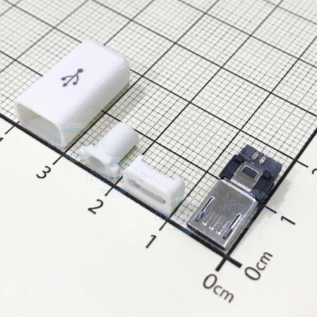 Cổng USB-Micro-B 5Pin Đầu Đực Hàn Dây V2