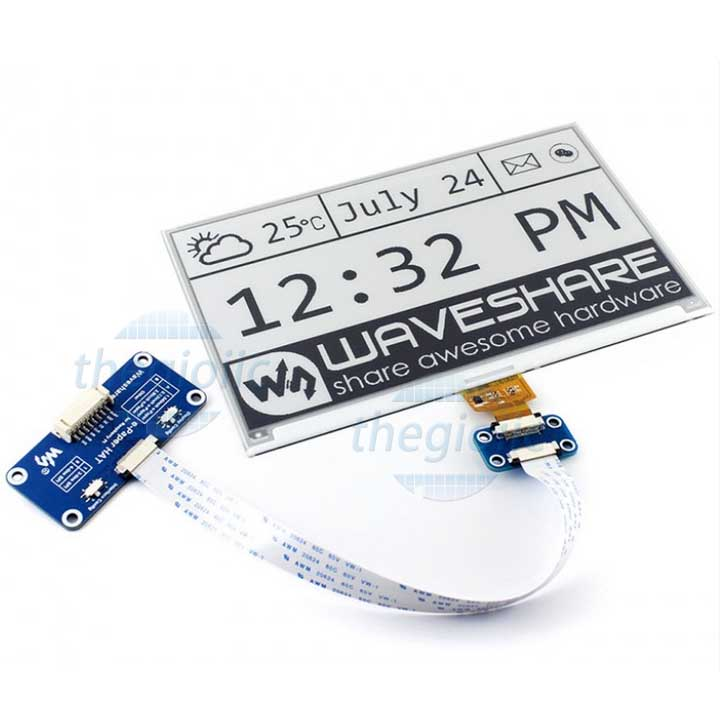 Module LCD 7.5inch E-Ink Đen Trắng