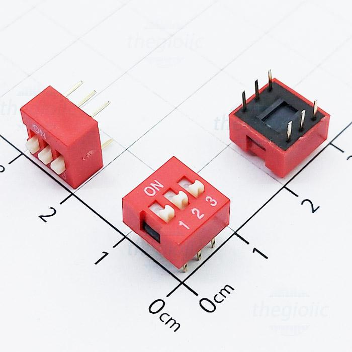 Công Tắc 3Bit Gạt Top Dip Switch