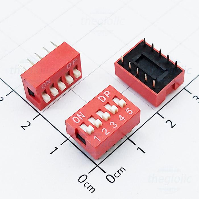 Công Tắc 5 Bit Gạt Top Dip Switch