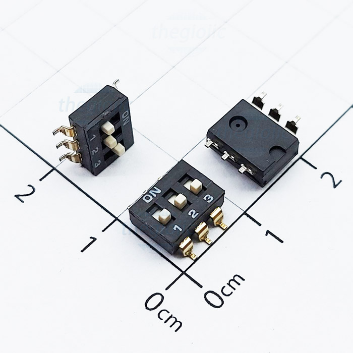 3 POSITION SMD DIP SWITCH