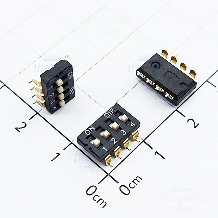 4 POSITION SMD DIP SWITCH