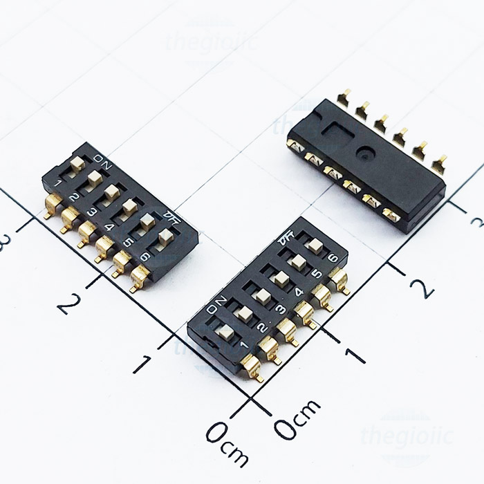 6 POSITION SMD DIP SWITCH