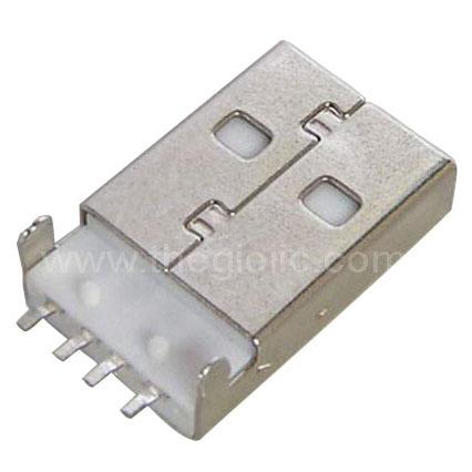 Cổng USB2.0 TypeA Đầu Đực 4Pin SMD 180 Độ