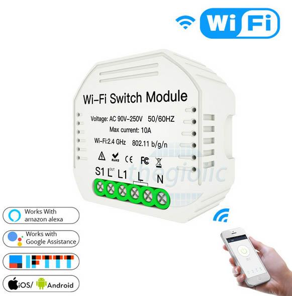 Công Tắc WiFi 1 Kênh MS-104 10A