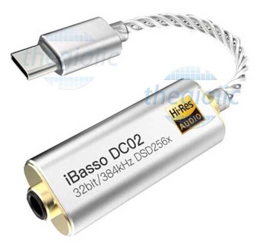 iBasso DC02 Bộ Chuyển Đổi TypeC Qua Jack 3.5mm