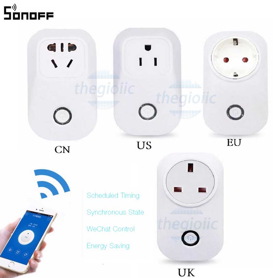 Ổ Cắm WiFi Sonoff S20 EU