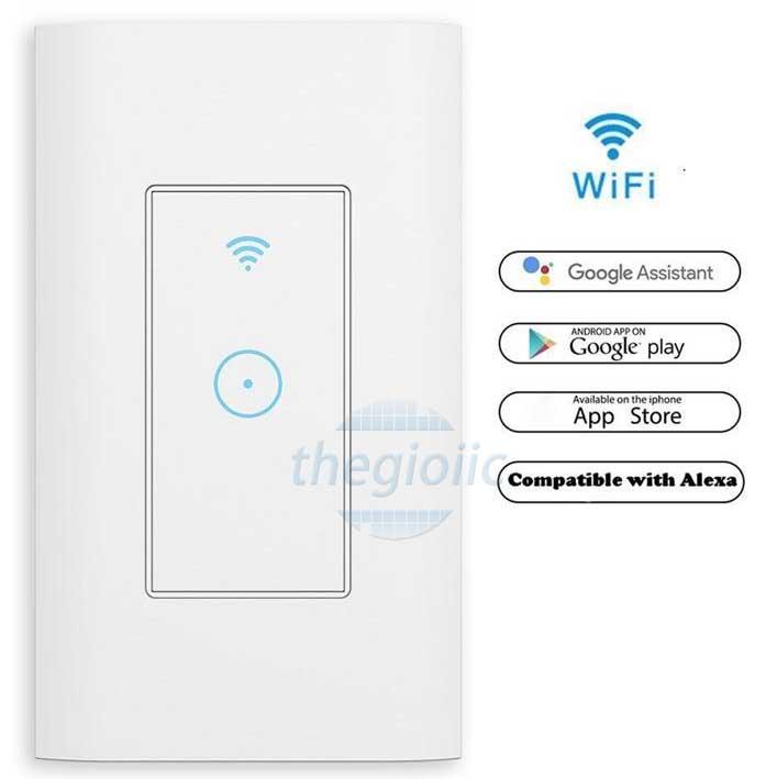 WF301 Công Tắc Âm Tường WiFi 1 Kênh 125V 15A