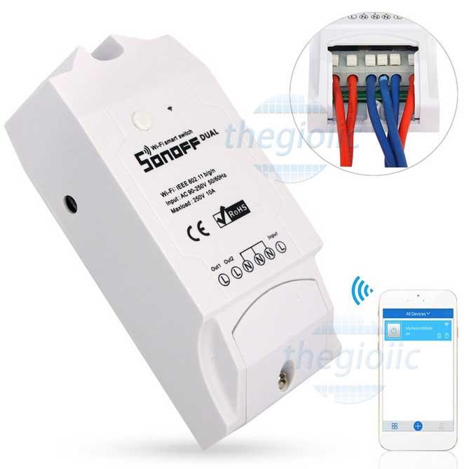 Công Tắc WiFi Sonoff Dual 2 Kênh