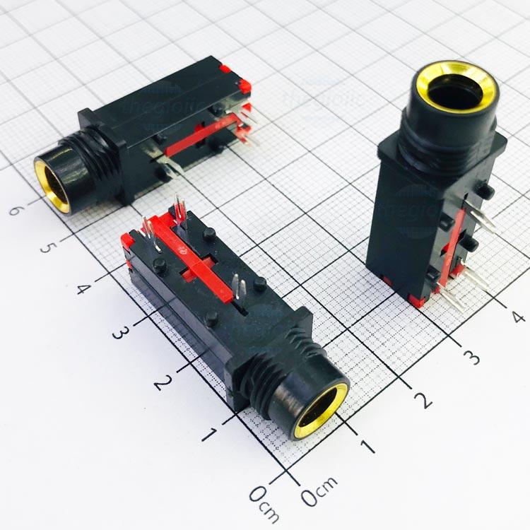 PJ-309 Cổng Audio 6.35mm 3 Cực 3Pin