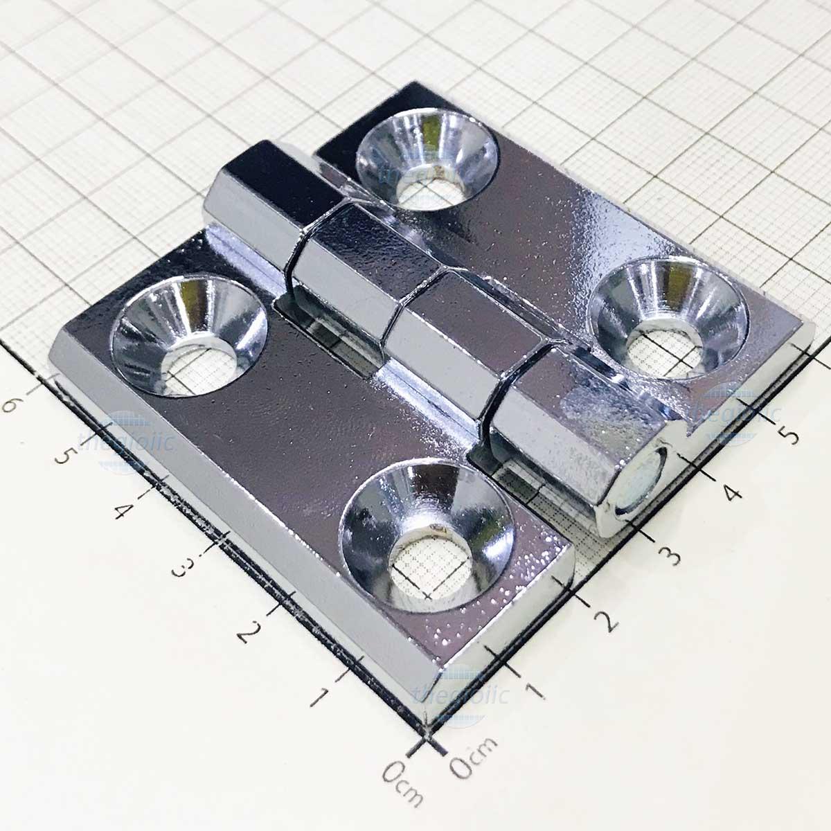 HL050 Bản Lề Tủ Điện Màu Bạc 60mm