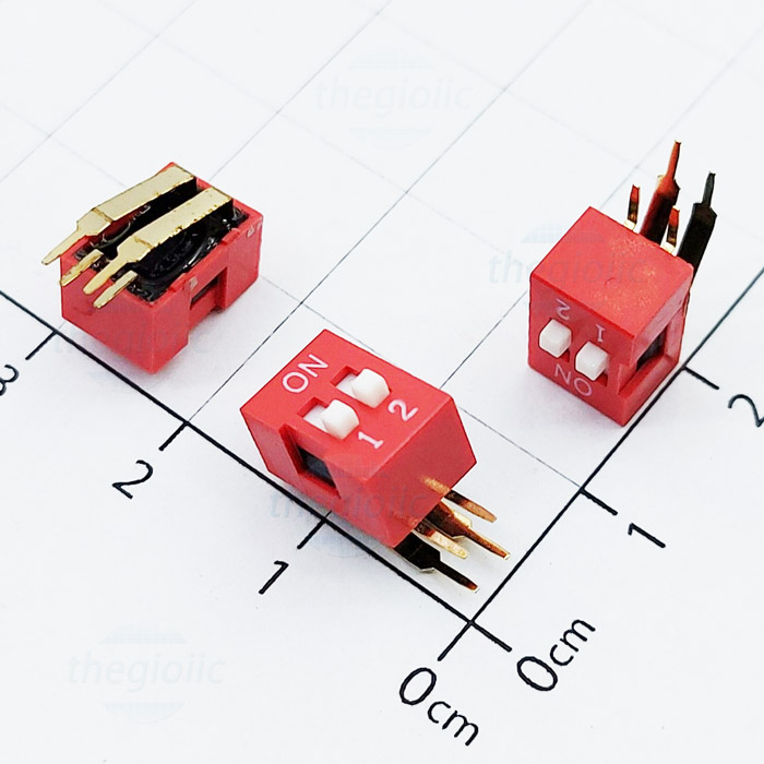 2pin right angle dip switches