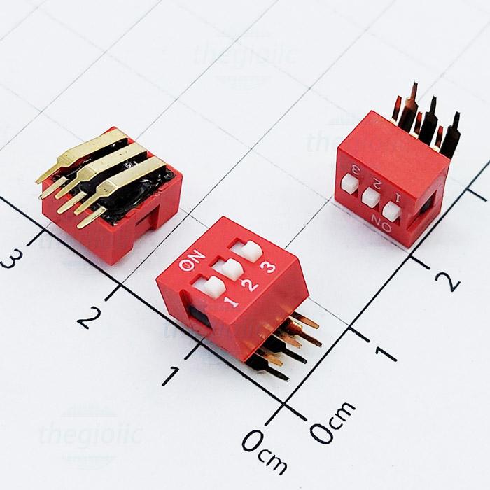 Công Tắc 3Bit Gạt Dọc Dip Switch