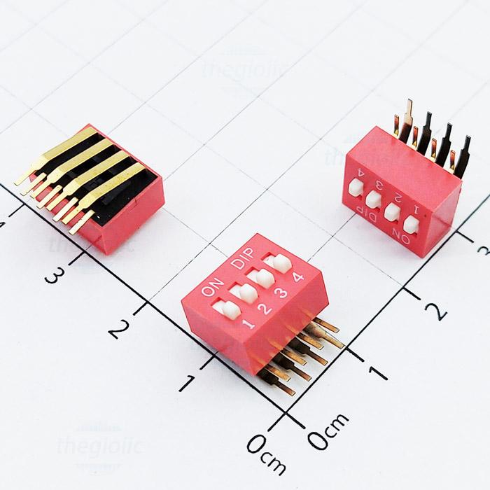 Công Tắc 4Bit Gạt Dọc Dip Switch