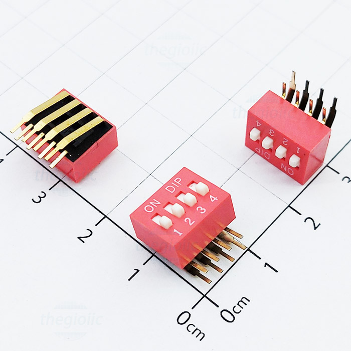 4pin right angle dip switches