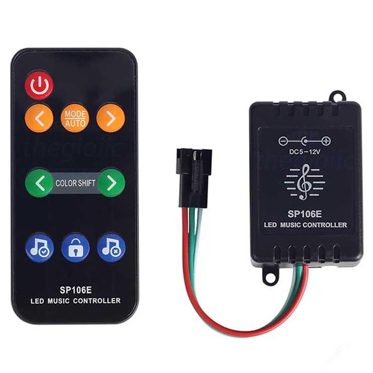 SP106E Điều Khiển LED Theo Nhạc 5-12VDC