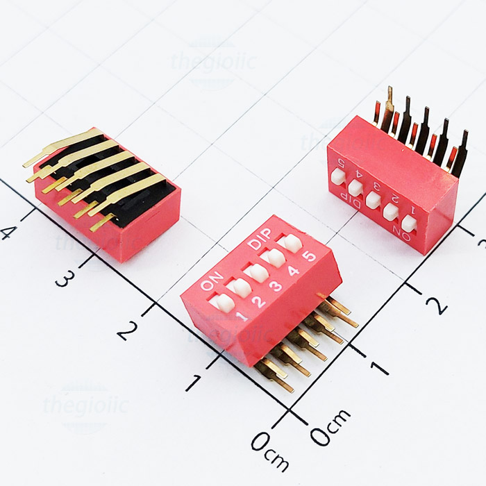 5pin right angle dip switches