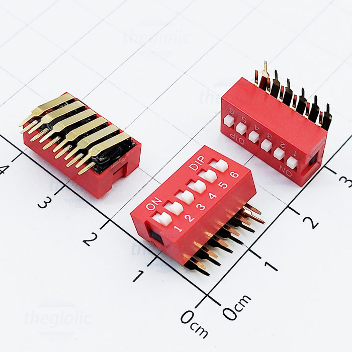 6pin right angle dip switches