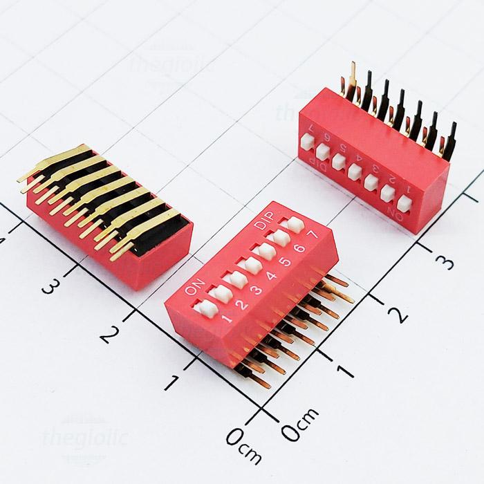 Công Tắc 7Bit Gạt Dọc Dip Switch