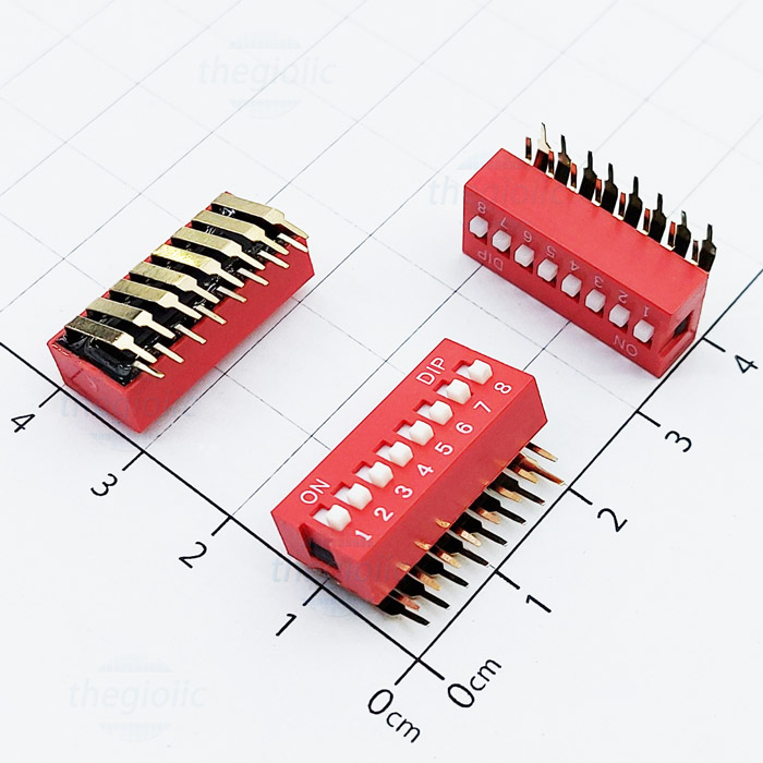 8pin right angle dip switches