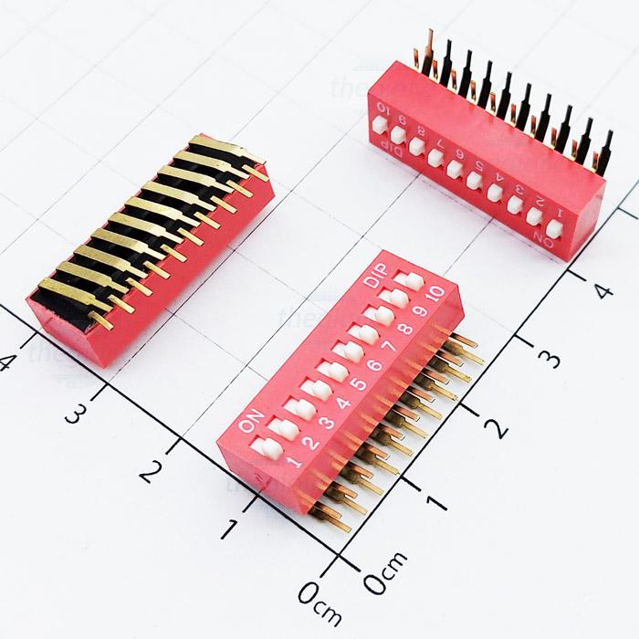 Công Tắc 10Bit Gạt Dọc Dip Switch