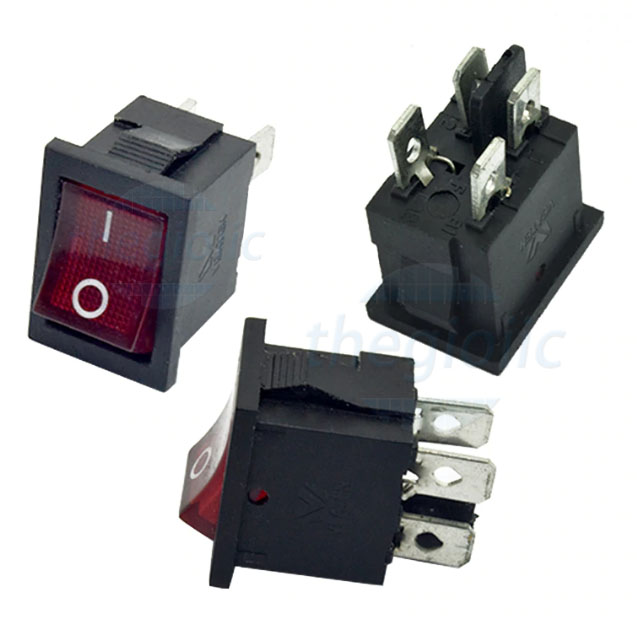 KCD1-104 Công Tắc ON-OFF 4Pin 6A