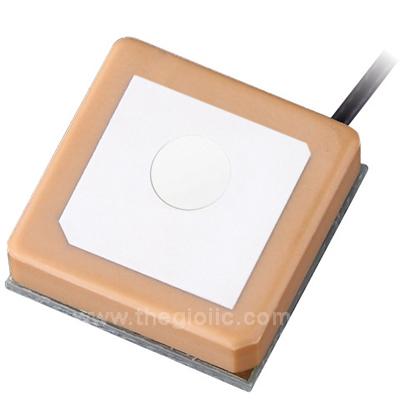JCN054 Ăng Ten GPS 25x25 Đầu Ipex Cáp RF 10cm Jinchang