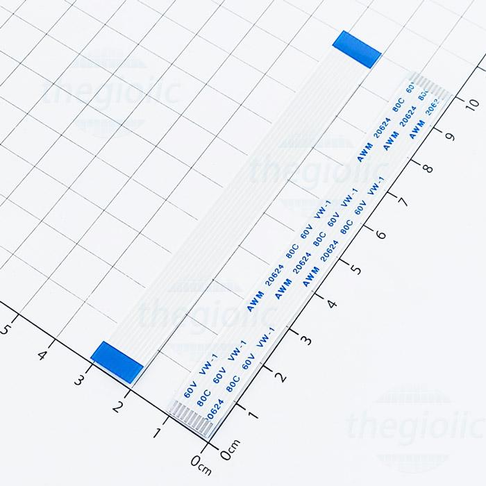 Cáp FFC 10Pin 1.0mm Cùng Hướng 10cm