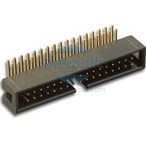 2.54mm 34-PIN Box Header Right Angle