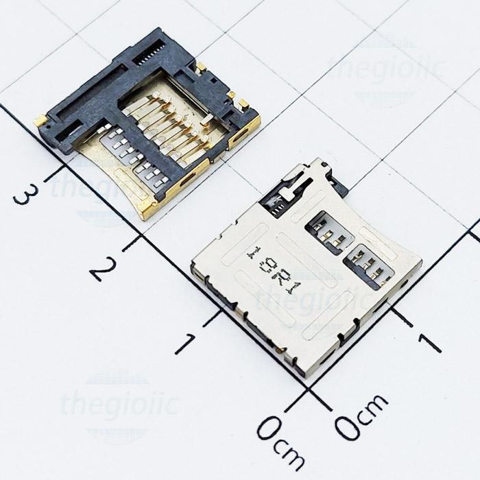 Khay Thẻ Nhớ MicroSD 8Pin Open-Lock V1