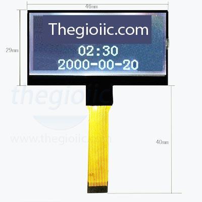 LCD COG 12864 Giao Tiếp SPI V1