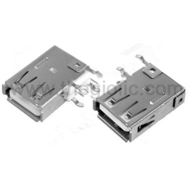 Cổng USB2.0 TypeA Đầu Cái 4Pin 90 Độ