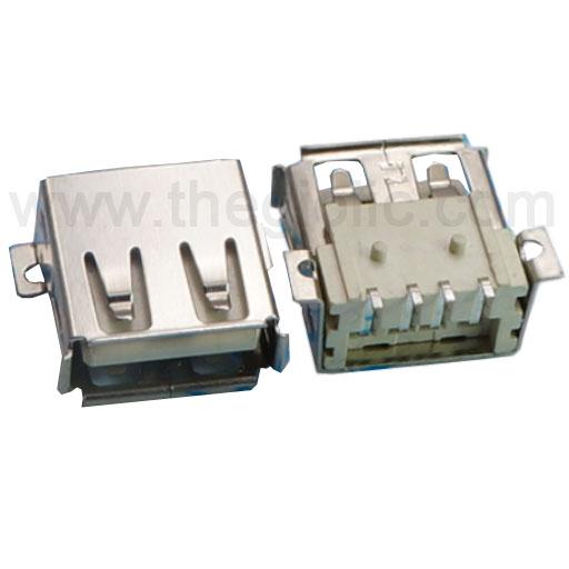 Cổng USB2.0 TyepA Đầu Cái 4Pin SMD 180 Độ