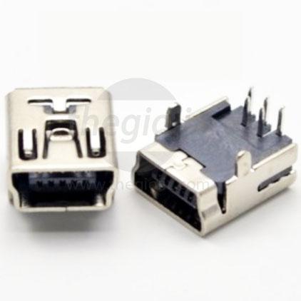 Cổng USB-Mini-B Đầu Cái 5Pin DIP
