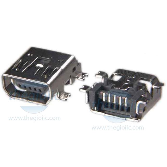 Cổng USB-Mini-AB Đầu Cái 5Pin SMD