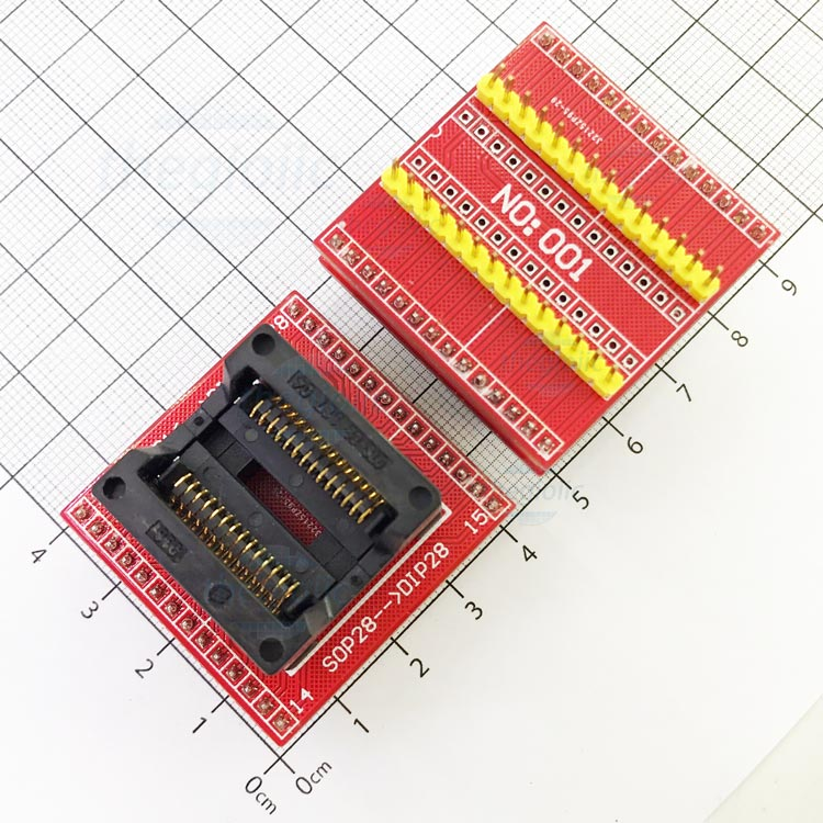 Socket Đổi Chân IC SOP28-DIP28