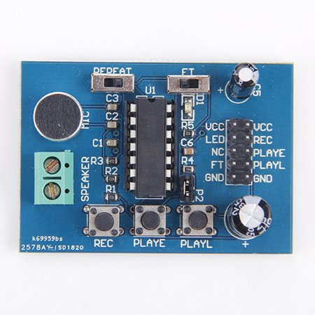 ISD1820 voice recording/playback module