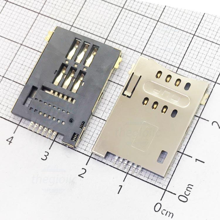 MUP-C719 Khe Cắm Sim 6Pin Push-Push