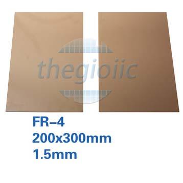 Tấm Đồng FR-4 2 Lớp 20x30cm Dày 1.5mm