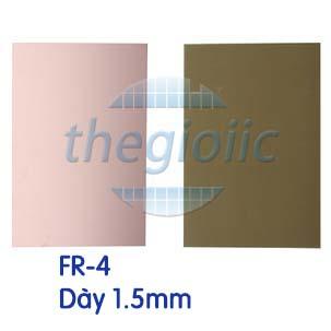 Tấm Đồng FR-4 1 Lớp 10x15cm Dày 1.5mm
