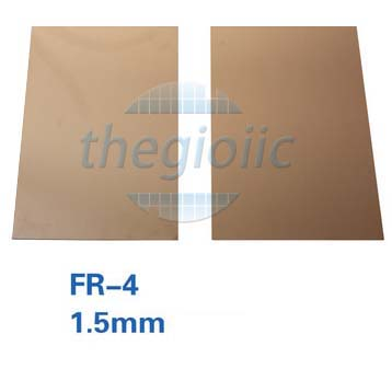 Tấm Đồng FR-4 2 Lớp 10x15cm Dày 1.5mm