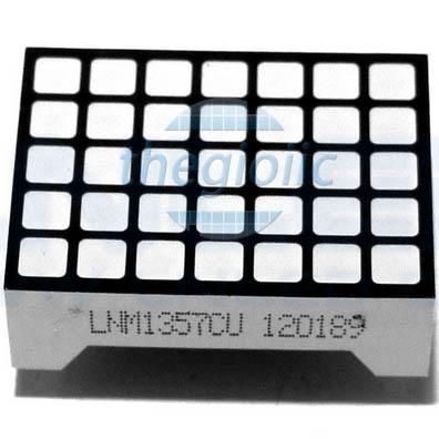 Led Matrix 5x7 Đỏ Dương Chung 3.0mm LDM-1357