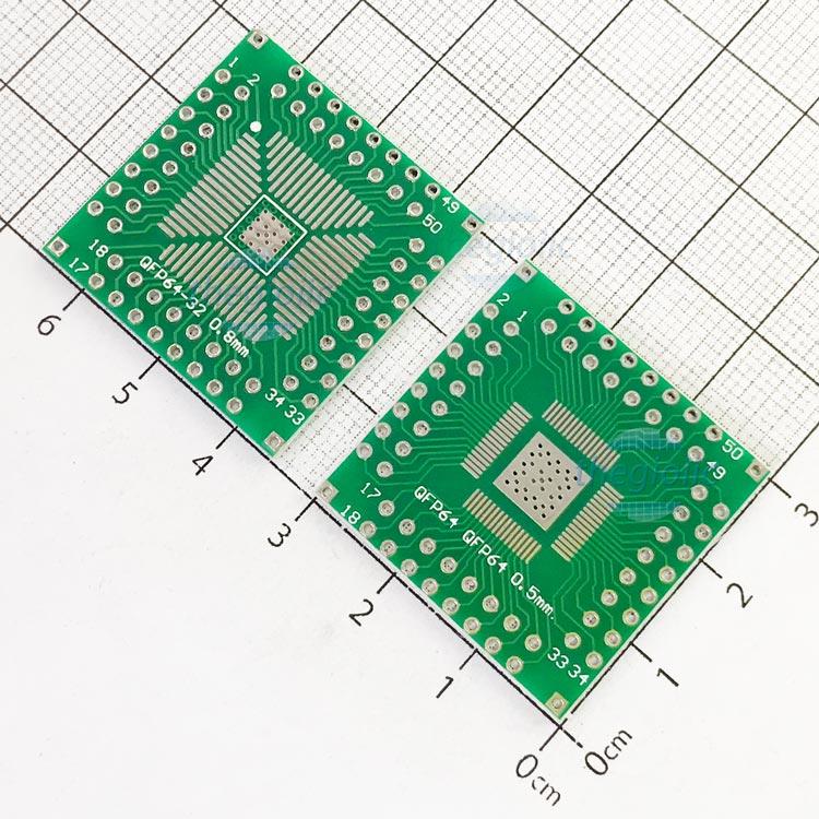 QFP64-DIP64 PCB Converter