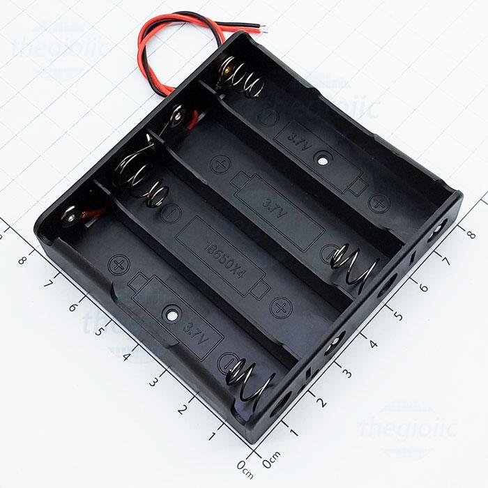 Hộp Đế Pin 4X18650 4 Cell