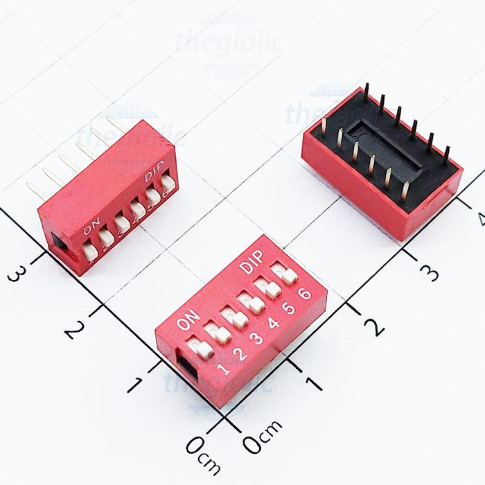 Công Tắc 6 Bit Gạt Top Dip Switch