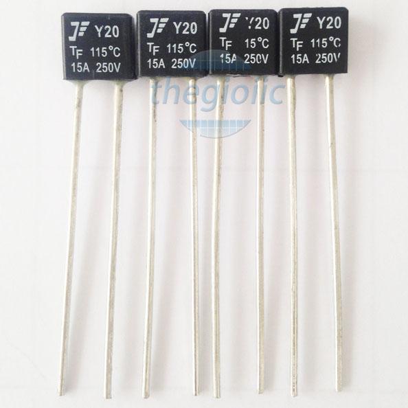 Y20-115C-15A Cầu Chì Nhiệt 115°C