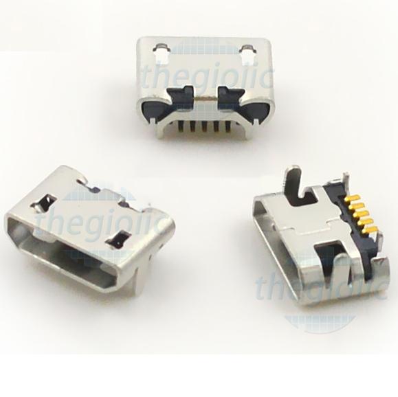 Cổng MicroUSB TypeB Đầu Cái 5Pin SMD V2