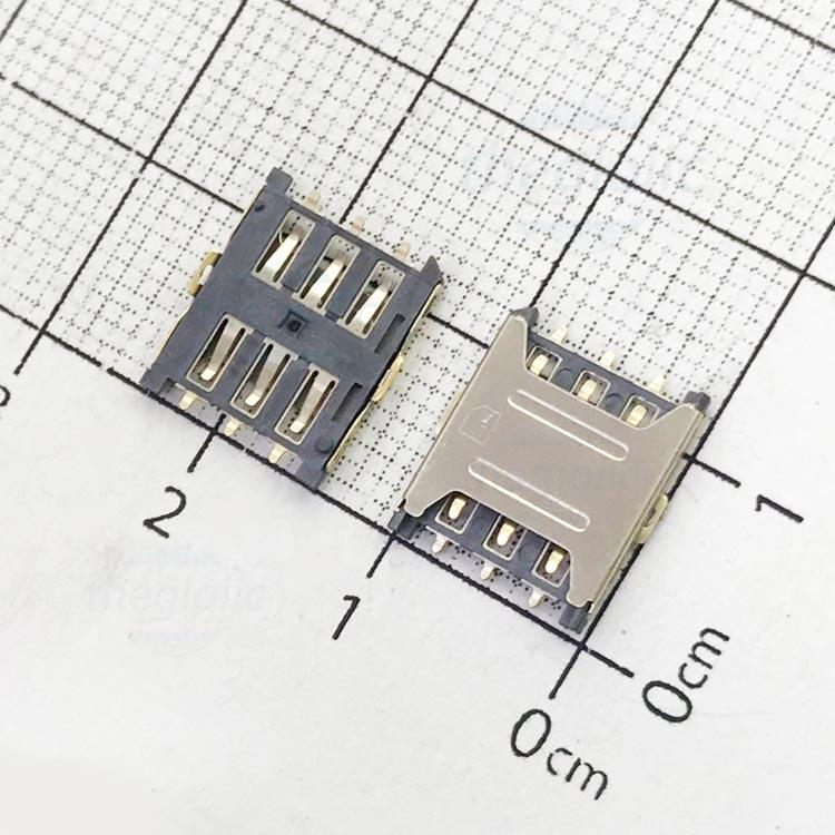 6P-NS-OL-V1 Khe Cắm Nanosim 6Pin Open-Lock