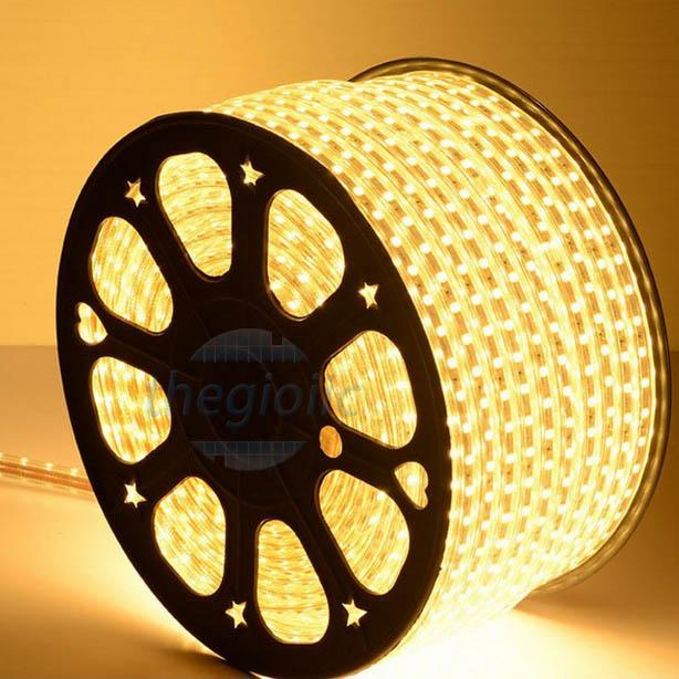 LED Dây Trắng Ấm 5050 Không Thấm Nước