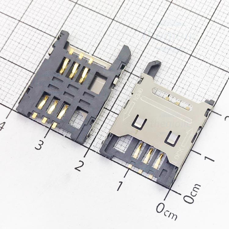 6P-SS-OL-V1 Khe Cắm Sim 6Pin Open-Lock